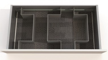Open Space is a flexible drawer organizing system product, black, white