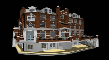 The South Fulham Conservative Club lies unoccupied close architecture, building, elevation, facade, home, house, mixed use, black