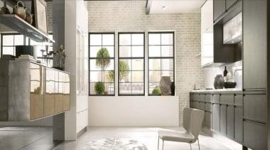 Aster Cucine - Aster Cucine - floor   floor, home, interior design, kitchen, loft, window, white, gray