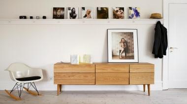 Designed by Scandinavian design company Soren Rose Studio, chest of drawers, furniture, interior design, shelf, shelving, sideboard, table, wood, white