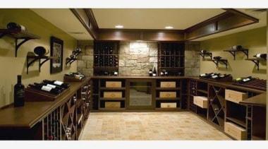 Modern Wine Cellar Ideas - Modern Wine Cellar cabinetry, countertop, furniture, interior design, kitchen, room, brown
