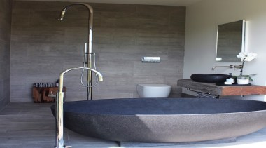 Highly Commended – Joshua Newlove, Newlove Browning Architects bathroom, bathroom sink, floor, interior design, plumbing fixture, sink, tap, gray, black