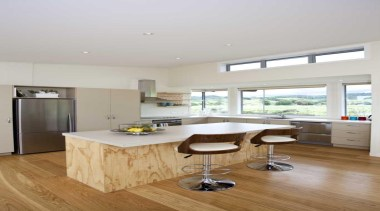 Timber flooring - Kitchen - countertop | floor countertop, floor, flooring, hardwood, interior design, kitchen, laminate flooring, real estate, room, wood flooring, gray