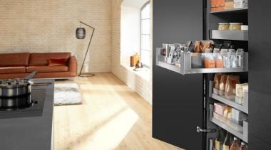 LEGRABOX free - Box System - floor   floor, flooring, furniture, interior design, kitchen, tile, white, black