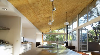 Mangawhai Heads, Northland - Point House - architecture architecture, beam, ceiling, daylighting, estate, home, house, interior design, property, real estate, roof, window, wood, brown, gray
