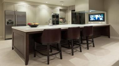 Mellons Bay 10 - cabinetry   countertop   cabinetry, countertop, floor, flooring, furniture, interior design, kitchen, table, gray, black