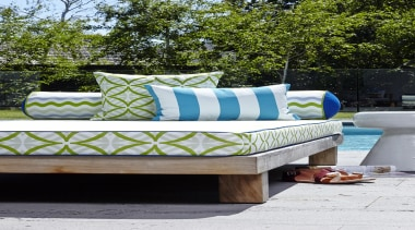 An exciting follow up to our popular Bondirange couch, furniture, outdoor furniture, outdoor structure, sunlounger, table, white