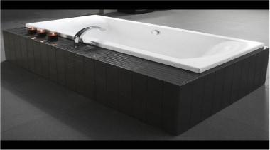 Crisp, clean external acrylic edges combined with the angle, bathroom sink, bathtub, plumbing fixture, sink, tap, black