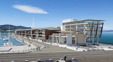 Rider Levett Bucknall Supreme AwardBuilt on an existing building, condominium, marina, mixed use, port, real estate, sky, teal, gray