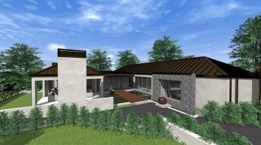 28 mds design 4 felton - Mds Design architecture, cottage, elevation, estate, facade, home, house, property, real estate, residential area, villa, teal, green