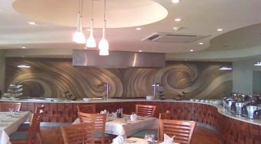 Dcocrete 43 - Dcocrete_43 - café   ceiling café, ceiling, function hall, interior design, lighting, restaurant, gray