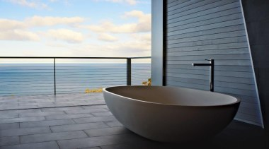 If you seek a perfect bathing experience, where bathtub, interior design, plumbing fixture, water, gray