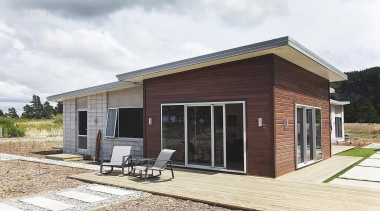 For more information, please visit www.gjgardner.co.nz elevation, facade, home, house, property, real estate, shed, siding, white