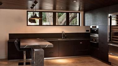 Graphite benchtops and leg - Grigio Armani - cabinetry, countertop, flooring, interior design, kitchen, black
