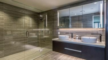 Bath - bathroom | floor | interior design bathroom, floor, interior design, room, tile, brown, gray