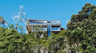 2013 ADNZ National Design Awards Winner - New architecture, cottage, home, house, plant, property, real estate, sky, tree, teal, brown
