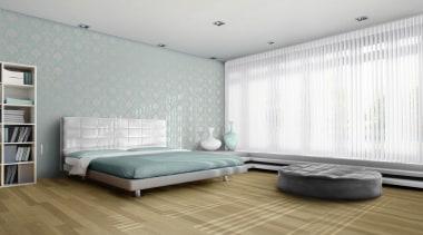 luxaflex luminette privacy sheers - luxaflex luminette privacy bed, bed frame, bed sheet, bedroom, ceiling, floor, interior design, mattress, room, wall, window, window covering, window treatment, white, gray