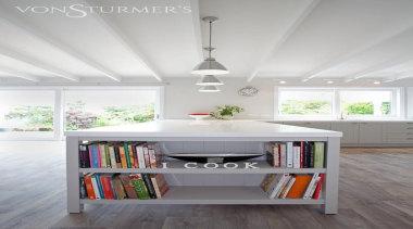Devonport - ceiling | floor | furniture | ceiling, floor, furniture, interior design, product design, shelf, shelving, table, white, gray