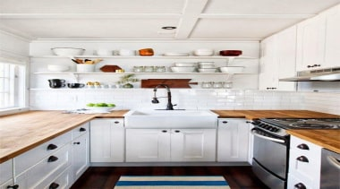All white Kitchen - Industrial meets country - cabinetry, countertop, cuisine classique, interior design, kitchen, kitchen stove, room, white