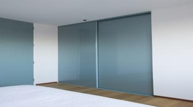 HomePlus Wardrobe doors and organisers were fitted in door, glass, interior design, sliding door, wall, wardrobe, white, gray