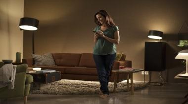 Philips Hue 04 - Philips Hue 04 - furniture, girl, interior design, lighting, room, table, brown