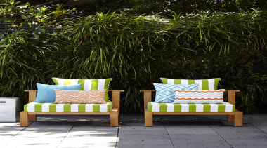 An exciting follow up to our popular Bondirange arecales, chair, furniture, grass, green, outdoor furniture, outdoor structure, patio, sunlounger, table, wall, wicker, yellow, brown, black