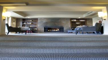 This enduringly popular tri-colour textured loop pile provides ceiling, floor, flooring, interior design, living room, lobby, tile, wood flooring, gray