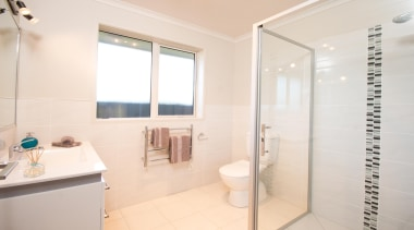 For more information, please visit www.gjgardner.co.nz bathroom, floor, home, interior design, property, real estate, room, tile, white