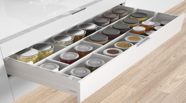 Individual components for Harn Ritma Cube soft close drawer, furniture, product, product design, white