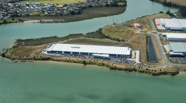 myTrends Industrial Property Award – Excellence Award The aerial photography, bird's eye view, photography, river, water, water resources, water transportation, waterway, teal