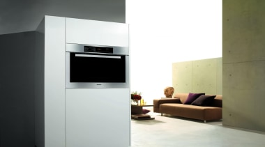 Built-in wall oven in modern home.Miele available at home appliance, kitchen appliance, major appliance, product design, white