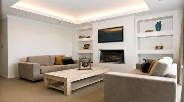 Living areaFor more information, please visit www.gjgardner.co.nz ceiling, floor, home, interior design, living room, real estate, room, suite, wall, white