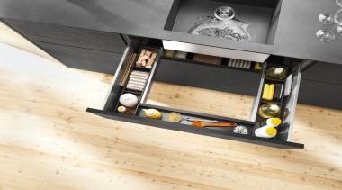 AMBIA-LINE inner dividing system – organization at its floor, flooring, furniture, product design, wood, orange