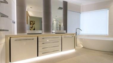 Highly Commended – David Ellwood, Design & Decorate bathroom, bathroom accessory, bathroom cabinet, cabinetry, countertop, floor, interior design, kitchen, room, sink, gray