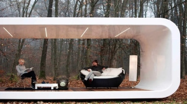 Coodo is a German mobile home modular system architecture, furniture, house, black, gray