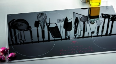 The cooktop is just one of many important advertising, design, font, product design, gray, black