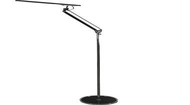 FeaturesThe sleek and stylish design of the Theo light fixture, lighting, line, microphone stand, product design, white