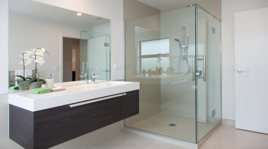 For more information, please visit www.gjgardner.co.nz bathroom, bathroom accessory, bathroom cabinet, glass, interior design, product design, room, gray