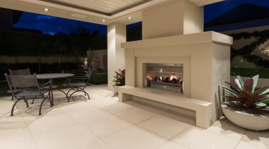 Mellons Bay 7 - estate   fireplace   estate, fireplace, floor, hearth, home, interior design, living room, property, real estate, gray, black, brown