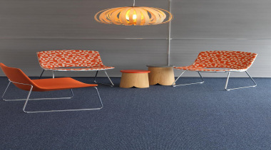 This low level loop pile has a great angle, chair, floor, flooring, furniture, hardwood, orange, outdoor furniture, product design, table, tile, wall, gray, blue