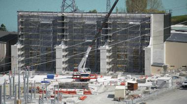 NOMINEEHVDC Pole 3 (2 of 4) - Warren architecture, building, condominium, construction, facade, scaffolding, gray, black