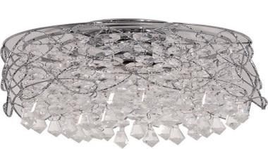 FeaturesA delicate feature light styled with chrome mounting ceiling fixture, lighting, lighting accessory, white