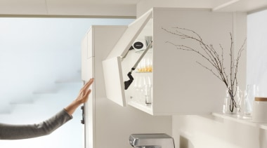 SERVO-DRIVE for AVENTOS - furniture   product design furniture, product design, shelf, shelving, gray, white