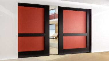 Create instant memories with EcoDomo leathers and belt door, interior design, sliding door, white, red