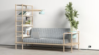 Versatility is the key to being at the bed frame, couch, furniture, product, product design, shelf, shelving, table, white