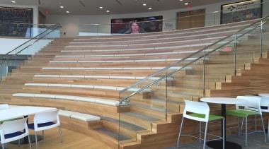 Glasshape - auditorium   floor   flooring   auditorium, floor, flooring, furniture, handrail, leisure centre, sport venue, stairs, structure, wall, wood, gray