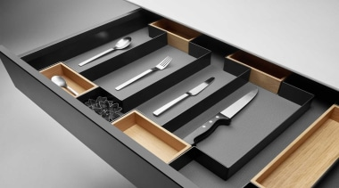 Open Space is a flexible drawer organizing system furniture, product, white, gray