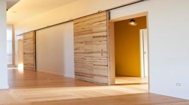 recycled tawa slider doors - recycled tawa slider architecture, door, floor, flooring, hardwood, home, interior design, real estate, wall, wood, wood flooring, orange