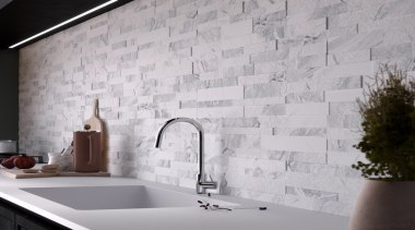 The 150x610mm tiles have a thickness ranging from ceramic, floor, flooring, interior design, tap, tile, wall, gray