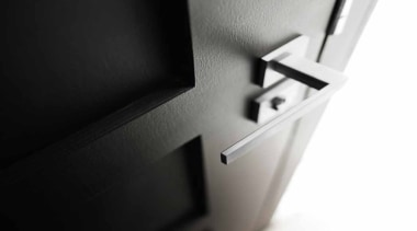 LSQII - Solid Lever Handle on Rose with product, product design, black, white